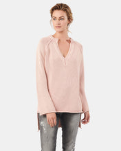 Load image into Gallery viewer, Kitty Open V-Neck Cotton Knit