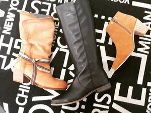 Black Leather Long Boot/Sale