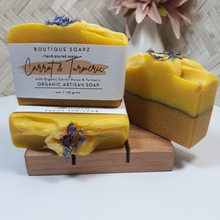 Load image into Gallery viewer, Carrot & Turmeric Soap Bar