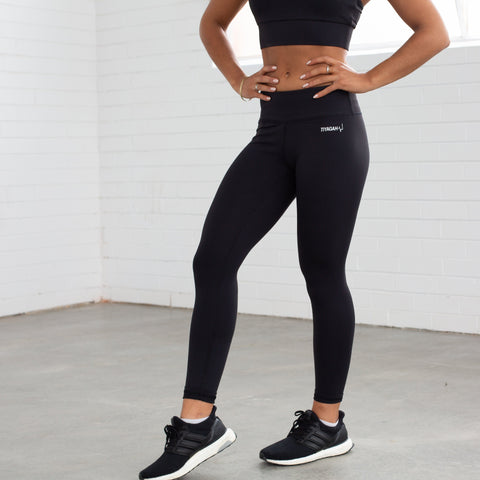 7/8 Power Base Leggings - Black - TIYAGAH