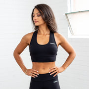 Power Base Sports Bra - Black - TIYAGAH