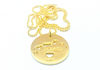 I Left My Heart in Turks and Caicos - 14k Gold Plated Sterling Silver Pendant Only