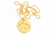 I Left My Heart in Turks and Caicos - 14k Gold Plated Sterling Silver Necklace