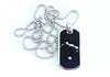 Black Dawg Tag - Sterling Silver Necklace