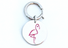 Flamingo Frank  - Sterling Silver Bag Charm - Keychain Charm - Dog Collar Charm