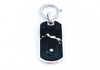 Black Dawg Tag - Sterling Silver Bag Charm - Keychain Charm - Dog Collar Charm