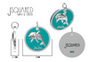 JoJo the Dolphin - Sterling Silver Bag Charm - Keychain Charm - Dog Collar Charm