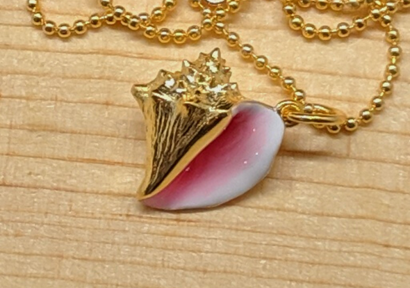 Conch-sciousness Collection - 14k Gold Plated Sterling Silver Necklace