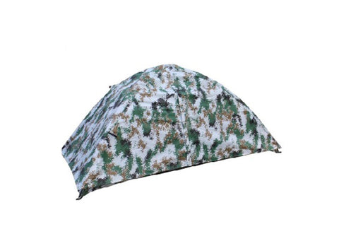 OYOHIBI Tents Double-deck Explosion-proof Camouflage Single-soldier Tent Single-double Available Woodland Camouflage
