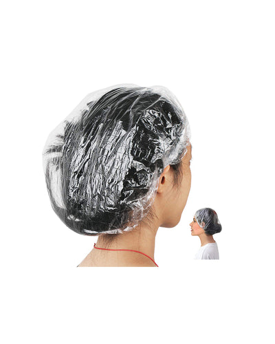 Disposable Hair Plastic Shower Cap - (50 & 100 Pack)