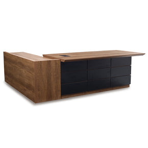 Contemporary l shaped office desk