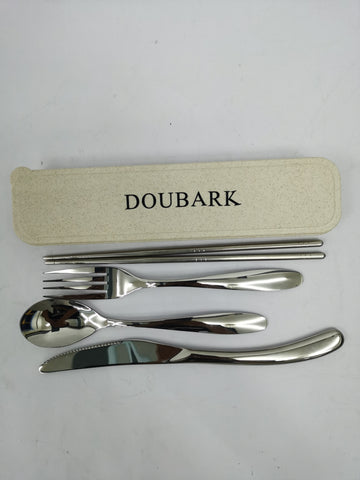 DOUBARK Tableware, Namely, Knives, Forks and Spoons, Silverware Set,Stainless Steel Utensils, Include Knife/Fork/Spoon, Mirror Polished