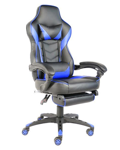 Leyeah Blue leather office chair
