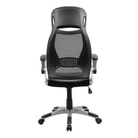 Grey computer chair and rolling chair
