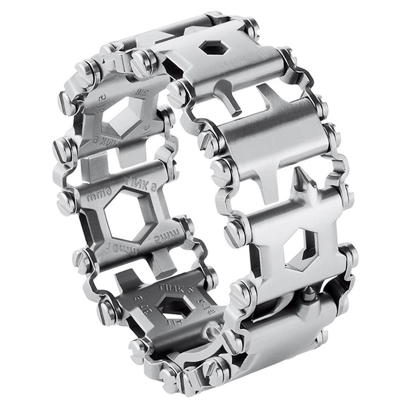 Multi-Function (29Tools in 1) EDC Bracelet Stainless Steel