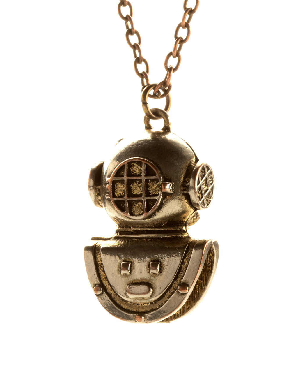 Diving Helmet Necklace Retro