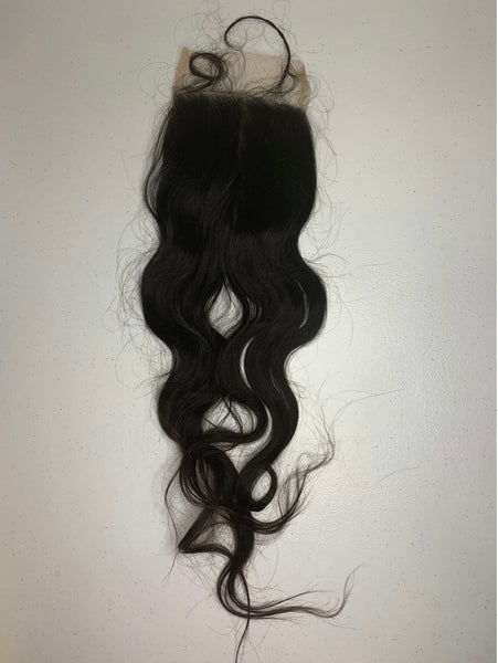 RAW INDIAN CLOSURES 5x5 | Wavy | Body Wave | Curly
