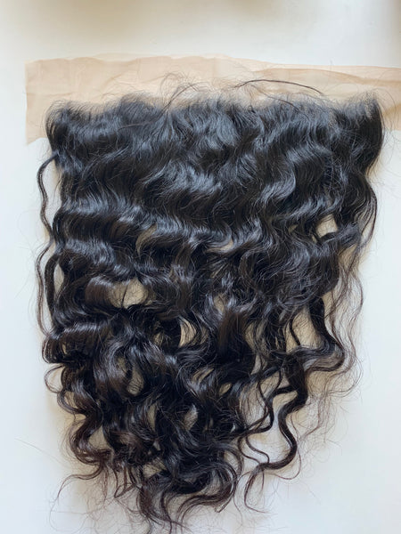 RAW INDIAN FRONTALS 13 x 4 | Wavy | Body Wave | Curly