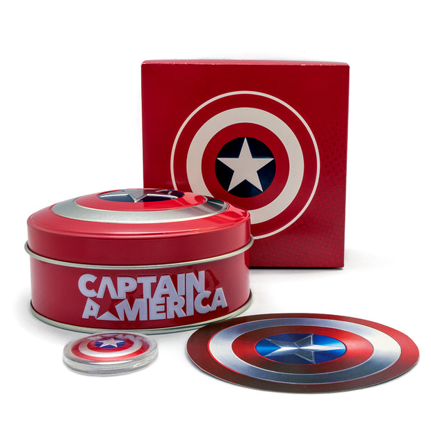 Marvel: 2019 10g Pure Silver CAPTAIN AMERICA Shield Coin