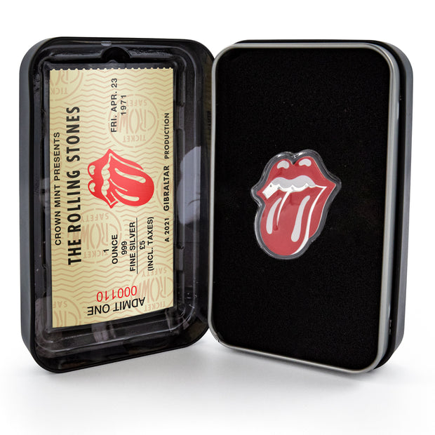 The Rolling Stones: 2021 1oz Pure Silver TONGUE AND LIPS Coin