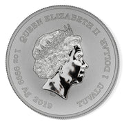 2019 1oz Silver Hulk Bullion Coin reverse detail