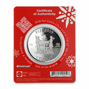 2019 1oz Silver Coca-Cola Santa Claus Coin packaging back detail