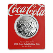2019 1oz Silver Coca-Cola Santa Claus Coin packaging front