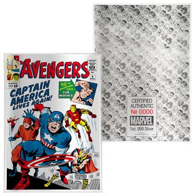 1oz Silver Avengers #4 Comic Book Foil
