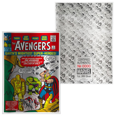 Marvel: 1oz Pure Silver AVENGERS #1 Comic Book Foil