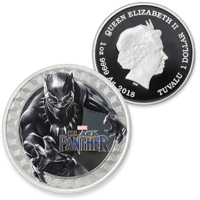 2018 Marvel 1oz Pure Silver BLACK PANTHER Coin