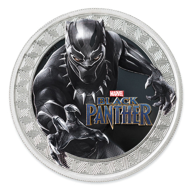2018 1oz Silver Black Panther Coin obverse detail