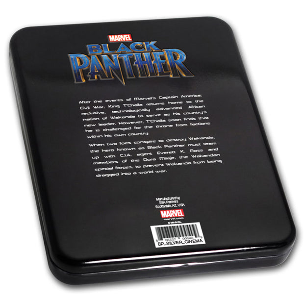 2018 1oz Silver Black Panther Coin packaging back