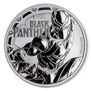 2018 1oz Silver Black Panther Bullion Coin obverse detail