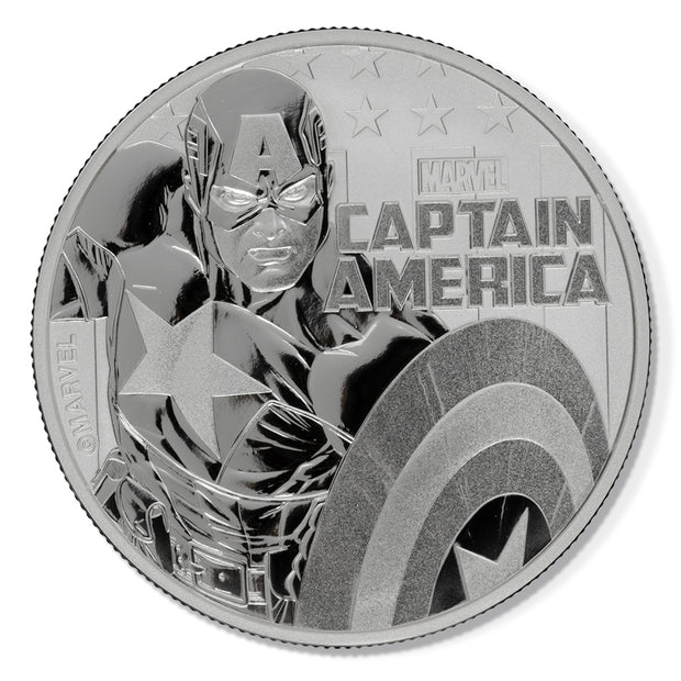 2019 1oz Silver Captain America Bullion Coin