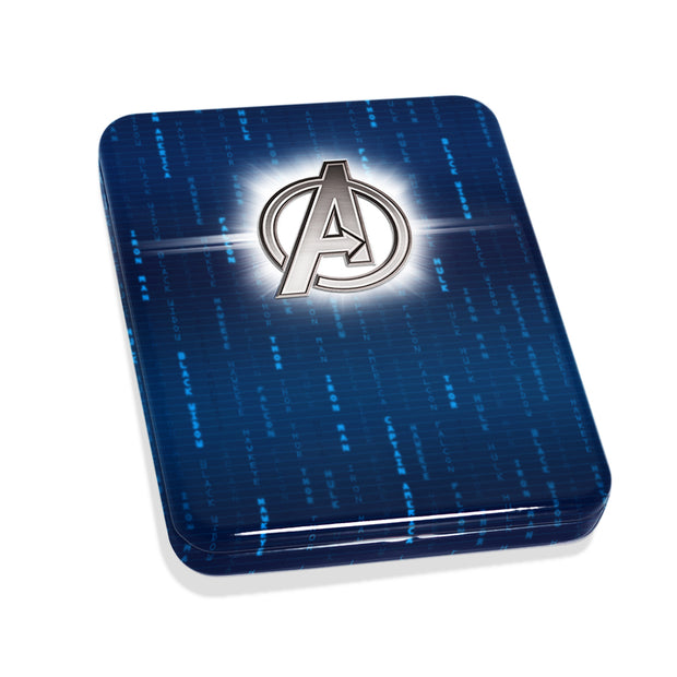 2020 1oz Silver Avengers Logo Coin collector case front