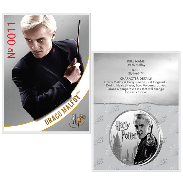 2020 1oz Silver Draco Malfoy Coin certificate of authenticity