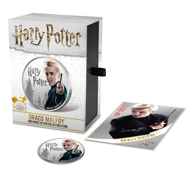 2020 1oz Silver Draco Malfoy Coin packaged set