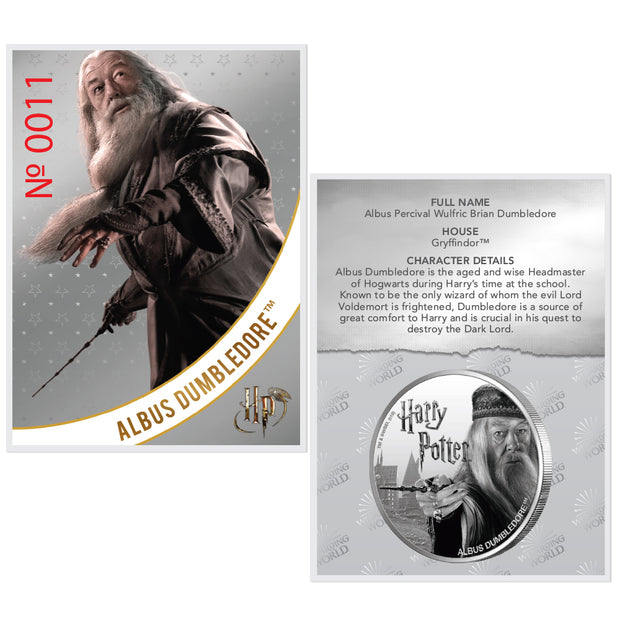 2020 1oz Silver Albus Dumbledore Coin certificate of authenticity