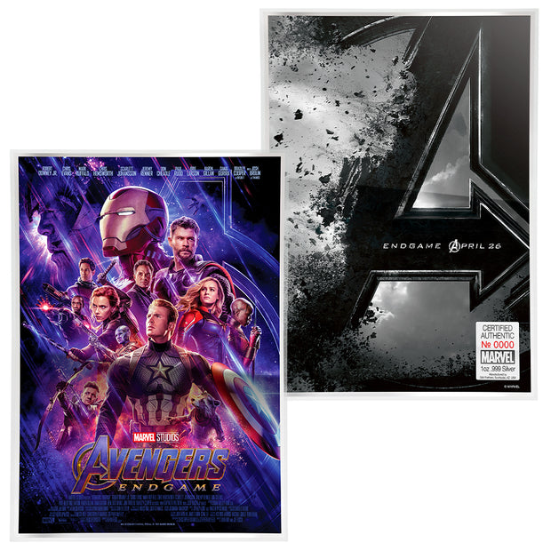 2019 1oz Silver Avengers: Endgame Movie Poster Foil