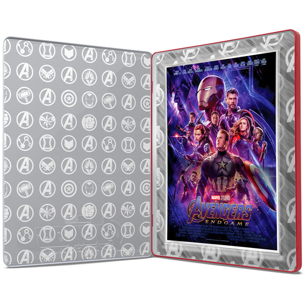 2019 1oz Silver Avengers: Endgame Movie Poster Foil collector box opened