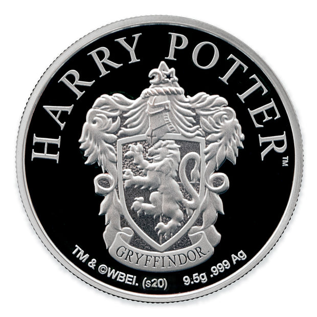 2020 Harry Potter Gtyffindor House Crest Coin obverse detail