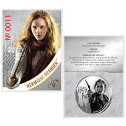 2020 1oz Silver Hermione Granger Coin certificate of authenticity