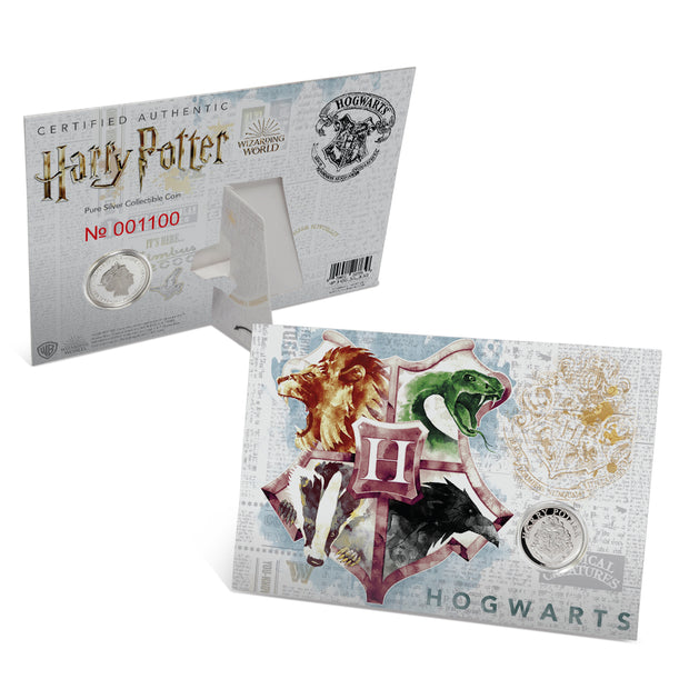 2020 Harry Potter HOGWARTS School of Witchcraft & Wizardry Coin packaging and certificate of authenticity