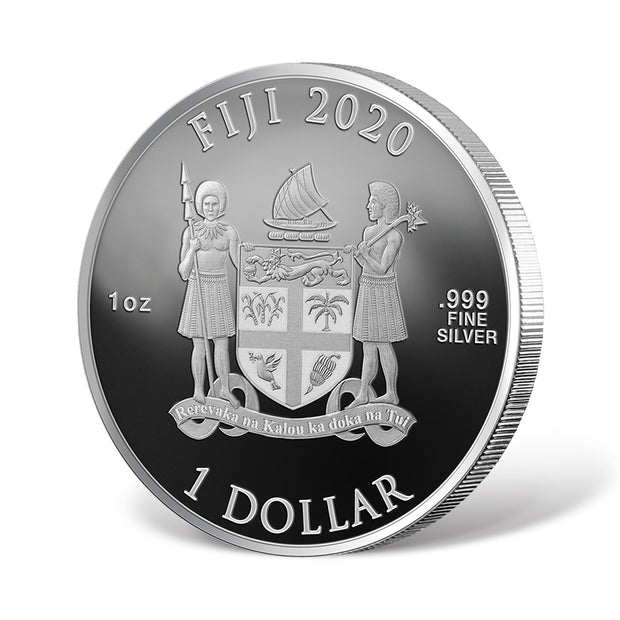 2020 1oz Silver Lord Voldemort Coin reverse and reeded edge detail
