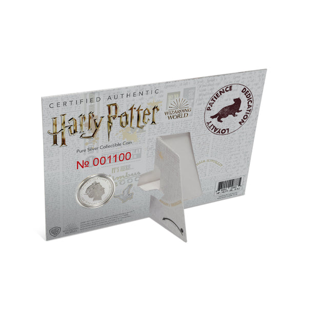 2020 Harry Potter Hufflepuff House Crest Coin packaging detail back