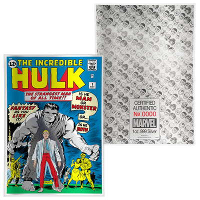 1oz Silver Incredible Hulk #1 Comic Book Foil