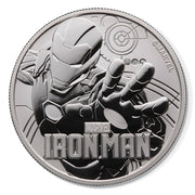 2018 1oz Silver Iron Man Bullion Coin obverse detail