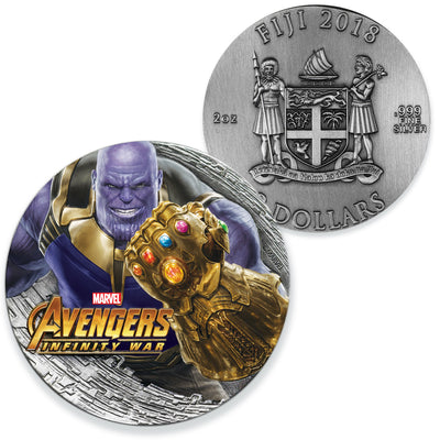 Marvel: 2018 2oz Pure Silver THANOS INFINITY WAR Coin
