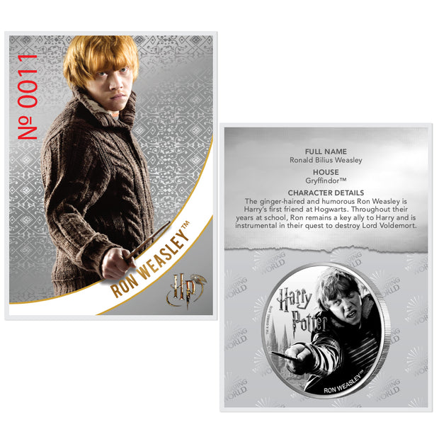 2020 1oz Silver Ron Weasley Coin certificate of authenticity