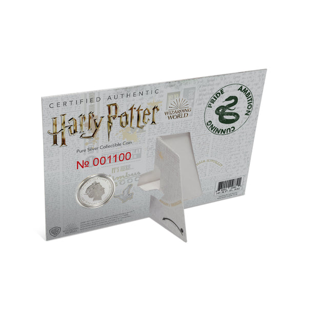 2020 Harry Potter Slytherin House Crest Coin packaging detail back